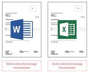 Excel Lieferscheinvorlagen