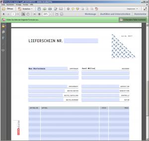 PDF-Lieferschein