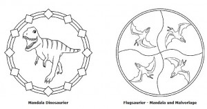 Gratis Mandalas Dinosaurier