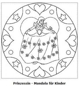 Gratis Malvorlage Mandala Prinzessin