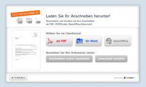 Downloadmöglichkeiten Praktikumsbewerbung