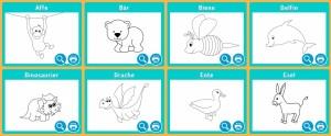 Ausmalbilder Tiere für Kleinkindern