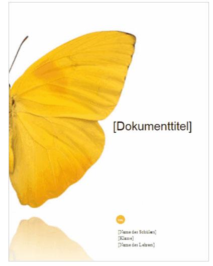 """Vorlage """"Bericht Deckblatt"""" zum Ausdrucken – Download kostenlos"""
