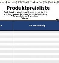 Vorlage Preisliste Zum Ausdrucken Download Kostenlos