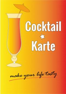 Kostenlose Cocktailkarten-Vorlage