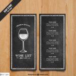 Vorlage einer Weinkarte