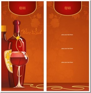 Weinkarte-Vorlage