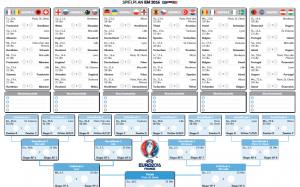 EM Spielplan für Deutschlandspiele - Vorlage 2016