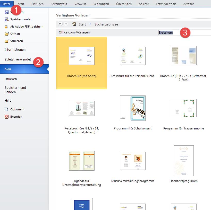 Broschüre Vorlagen – kostenlos