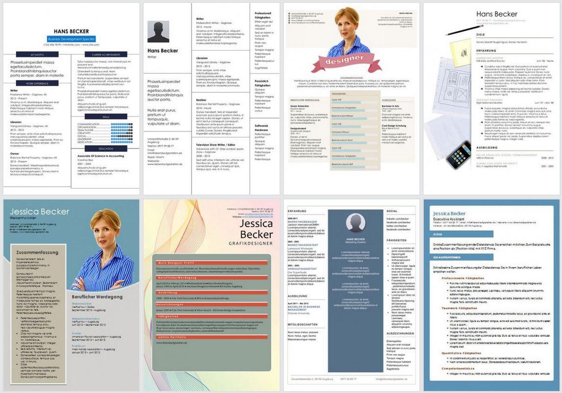 Lebenslauf: Vorlagen, Muster und Beispiele