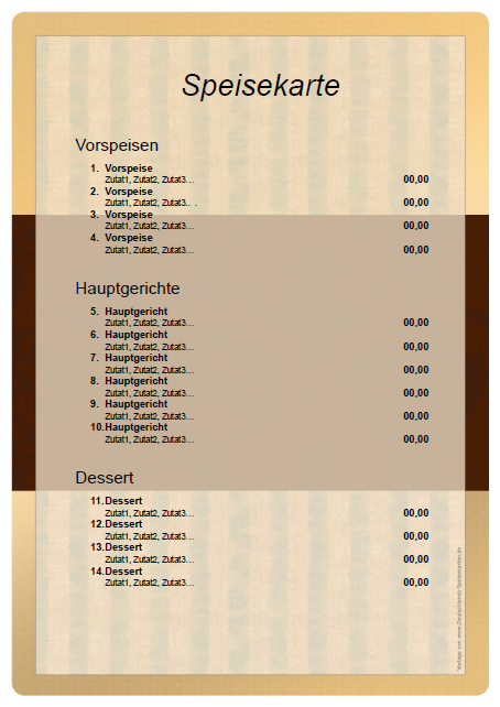 Speisekarten-PDF