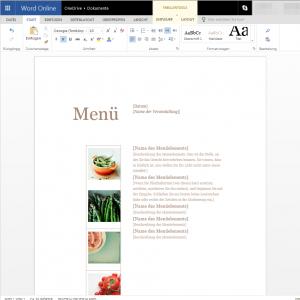 Speisekarten mit Word online selbst erstellen