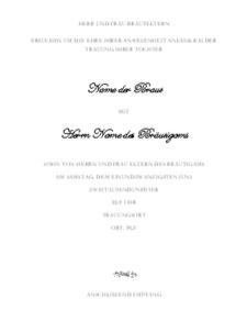 """vorlage """"hochzeits-einladung"""" zum ausdrucken – download kostenlos, Einladung"""
