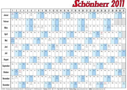 kalendervorlage 2011 gratis