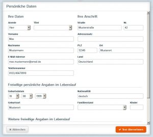 Onlinegenerator Bewerbung